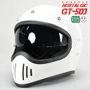 GT503 ヘルメット ホワイト GT-503 今だけ!!送料無料!! ビンテージ ヘルメット GT503 フルフェイス GT-503
