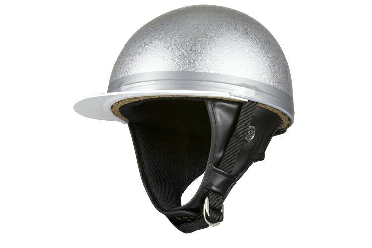 コルク半キャップ 銀 シルバーラメ  銀ラメ  三つボタン  フリーサイズ  124cc以下  SG規格適合 PSCマーク付  3つボタン  バイク  オートバイ  ヘルメット  半帽  バイクパーツセンター