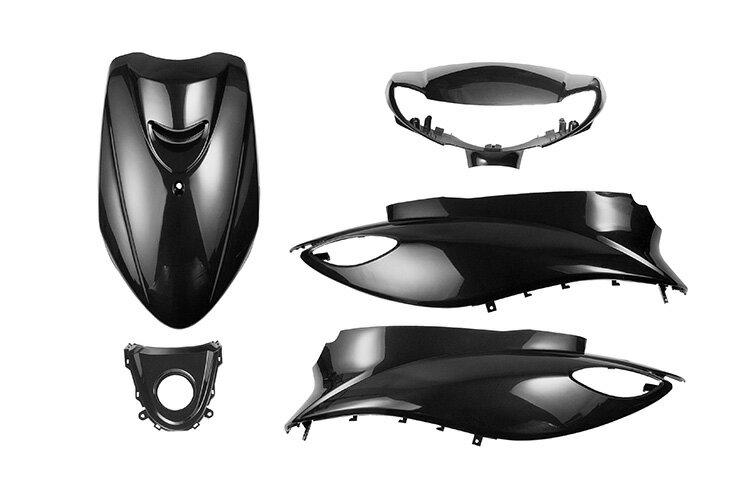ヤマハ 4st ジョグ SA36J エンブレム付き 外装5点セット 黒 外装セット  ブラック  限定セット  JOG  jog  バイクパーツセンター