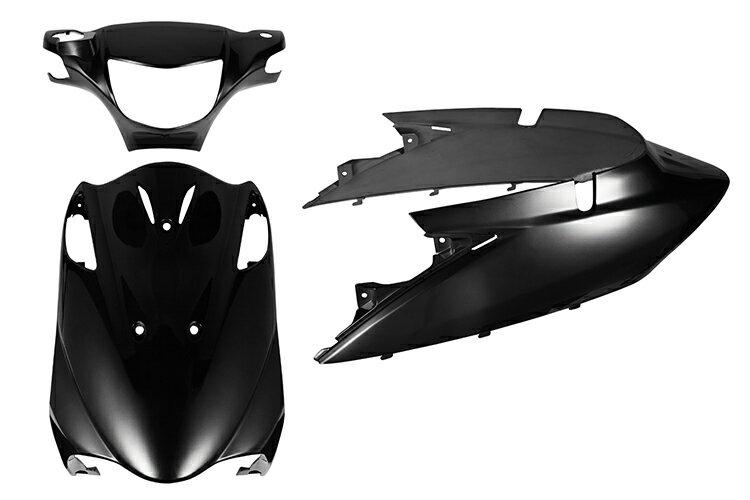 スズキ アドレスV125【CF46A/CF4EA】エンブレム付き 外装セット 3点 黒 ブラック《限定セット》【外装セット】バイクパーツセンター