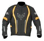 【DUHAN】モーターサイクルジャケットブラック×オレンジ【オールシーズン】【Lサイズ】【ドゥーハン】