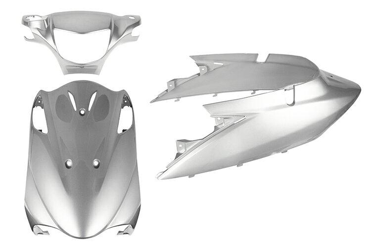 スズキ アドレスV125【CF46A/CF4EA】エンブレム付き 外装セット 3点 銀 シルバー《限定セット》【外装セット】バイクパーツセンター