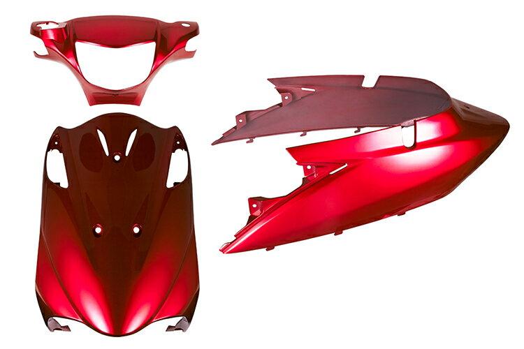 スズキ アドレスV125【CF46A】エンブレム付き 外装セット 3点 ワインレッド《限定セット》【外装セット】バイクパーツセンター