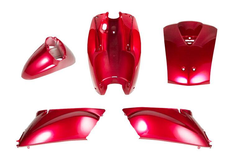 ホンダ トゥデイ AF61 外装カウルセット 5点 赤 レッド  塗装済  純正タイプ  外装セット  TODAY  Today  today  補修  バイクパーツセンター