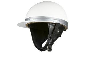 コルク半キャップ 白 ホワイト  ソリッド  フリーサイズ  124cc以下  SG規格適合 PSCマーク付  バイク  オートバイ  ヘルメット  半帽  バイクパーツセンター