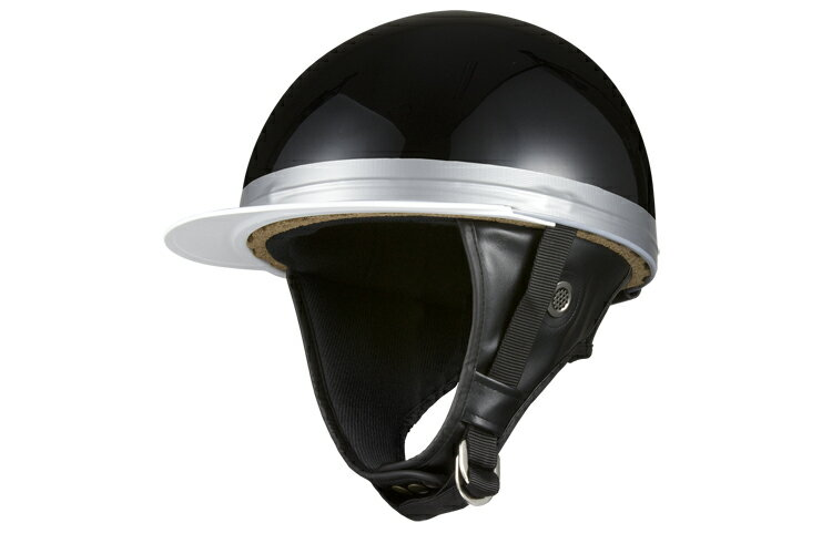 コルク半キャップ 黒 ブラック  ソリッド  三つボタン  フリーサイズ  124cc以下  SG規格適合 PSCマーク付  3つボタン  バイク  オートバイ  ヘルメット  半帽  バイクパーツセンター
