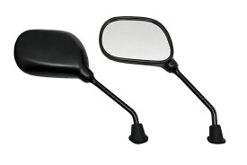 ミラー 楕円ミラー 右逆ネジ 左正ネジ 8mm 左右セット ヤマハ用 原付 スクーター 黒 バイクパーツセンター