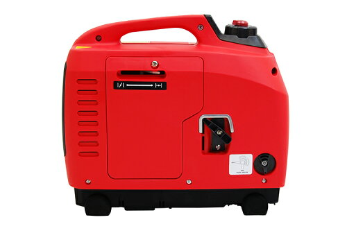 『屋外作業』携帯発電機(インバーター式、正弦波)SF-1000F赤【900W】【持ち運びに便利な小型発電機】バイクパーツセンター