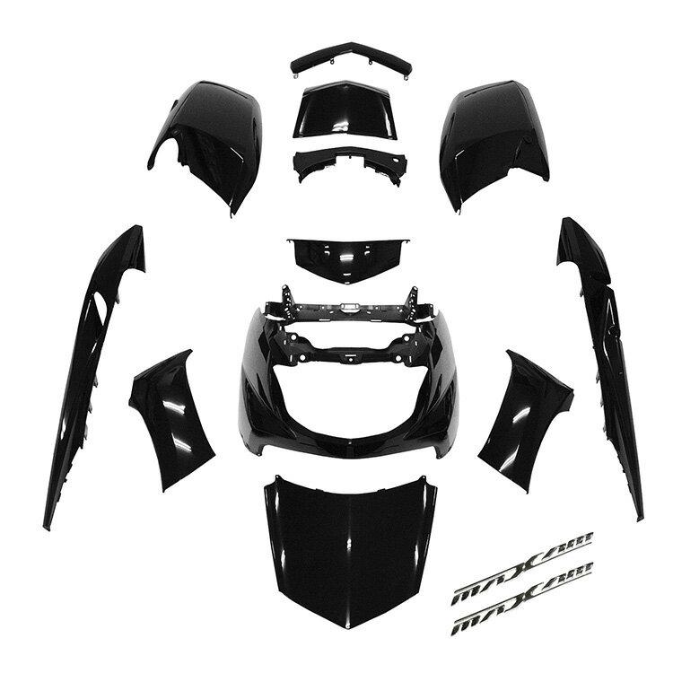 ヤマハ マグザム SG17J/SG21J 外装12点セット 黒/ブラック MAXAM 《限定セット》 エンブレム付き【外装セット】 バイクパーツセンター