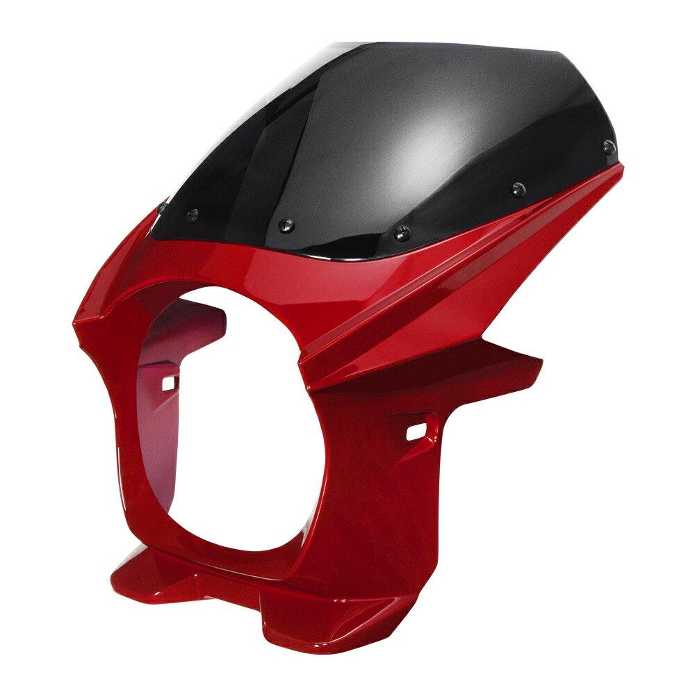 汎用 180パイ サイズ横180 縦180 ビキニカウル レッド/赤 CB400SF NC31,NC39 ,ホーネット250/600/900,VTR250,ジェイド250,X-4,X-11など適合多数  塗装済  バイクパーツセンター
