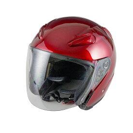 エアロフォルムジェットヘルメット レッド  Lサイズ  SG規格適合 PSCマーク付  バイク  オートバイ  ヘルメット  バイクパーツセンター