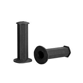 ヘキサゴングリップ 黒/ブラック 非貫通 22.2径用 汎用  バイクパーツセンター