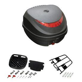 リアボックス 32L ブラック×レッド バックレスト付 リアキャリアセット PCX用