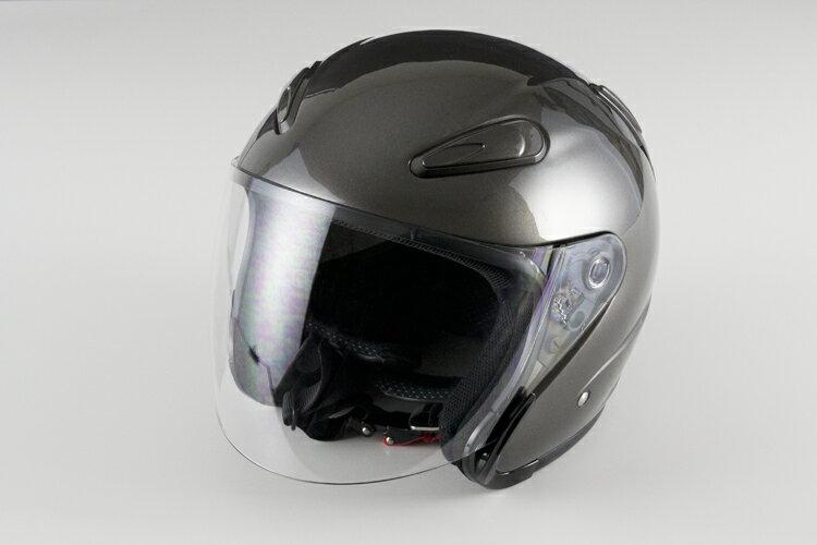 エアロフォルムジェットヘルメット ガンメタ 【Lサイズ】【SG規格適合 PSCマーク付】【バイク】【オートバイ】【ヘルメット】 バイクパーツセンター