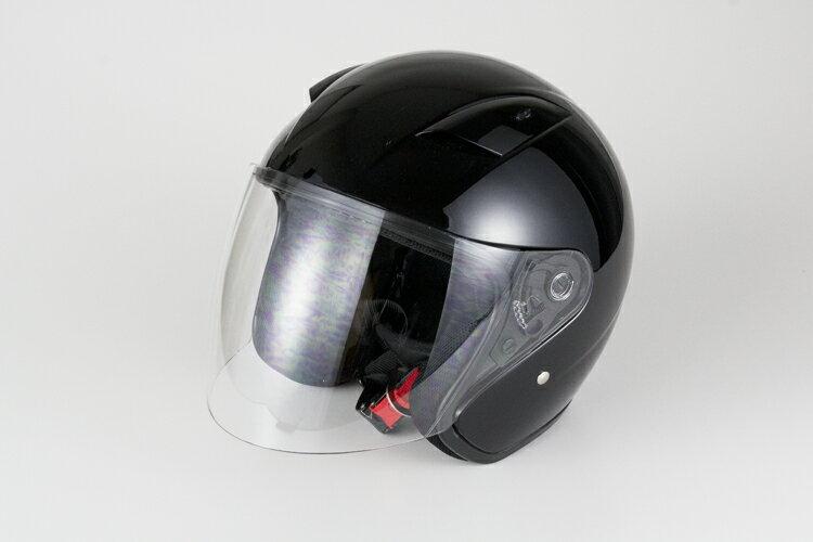 ラウンドフォルムジェットヘルメット ブラック 【フリーサイズ】【SG規格適合 PSCマーク付】【バイク】【オートバイ】【ヘルメット】 バイクパーツセンター