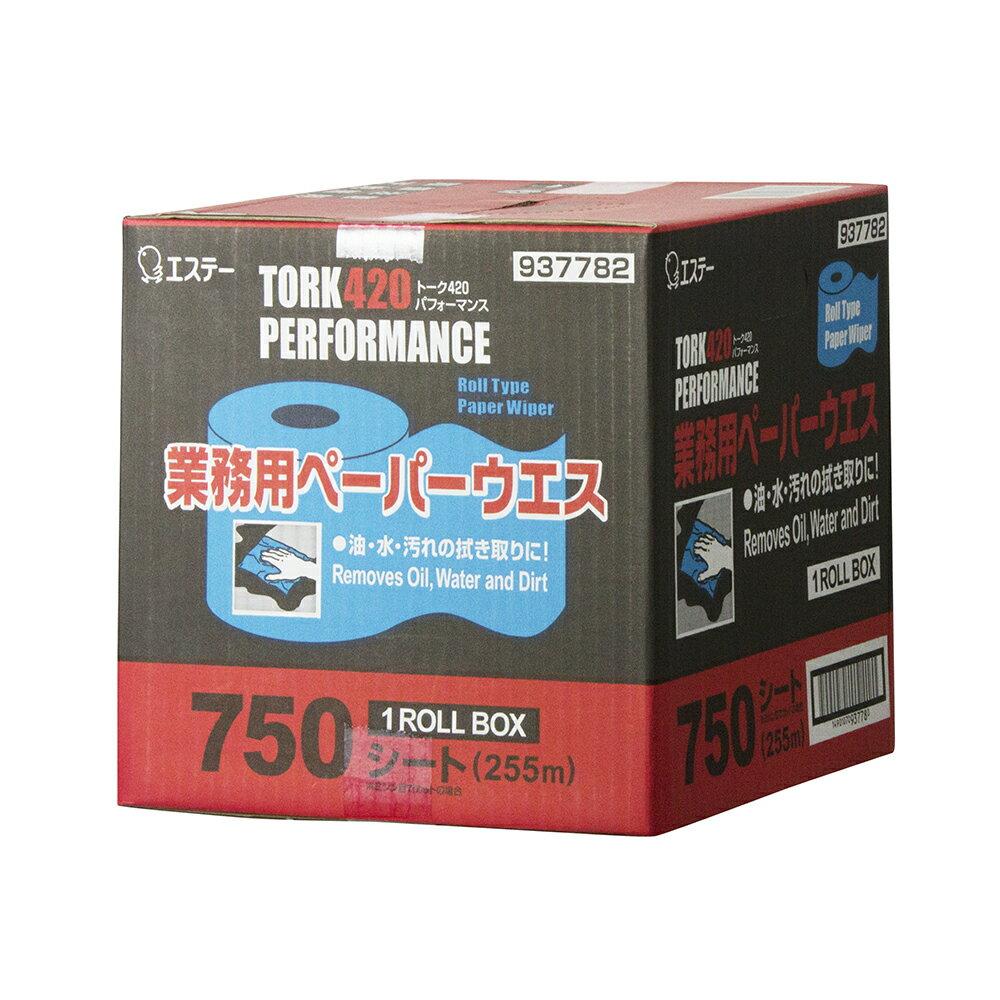 【エステー】 トーク420パフォーマンス1箱 (1ロールボックス)【750枚】【一巻】【ペーパーウェス】【紙ウェス】【再生紙】