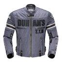DUHAN モーターサイクル メッシュジャケット グレー 3シーズン  XLサイズ  ドゥーハン  プロテクター付  …