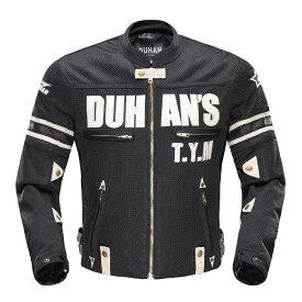 DUHAN モーターサイクル メッシュジャケット 黒 3シーズン  Lサイズ  ドゥーハン  プロテクター付  インナーパッド  ライディングウェア  バイク用 バイクパーツセンターDUHAN ドゥーハン バイク ジャケット 夏