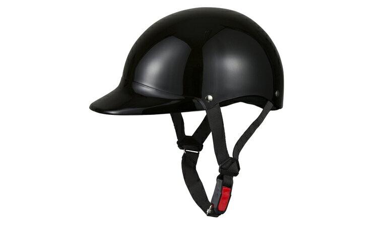 半キャップ 黒 ブラック フリーサイズ ソリッド 124cc以下 SG規格適合 PSCマーク付 バイク オートバイ ヘルメット 半帽 バイクパーツセンター