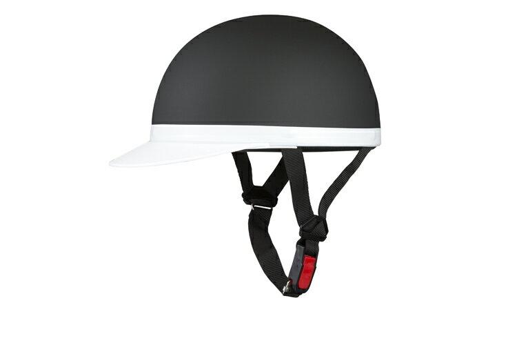 半キャップ 白ツバ マットブラック【XLサイズ】【124cc以下】【SG規格適合 PSCマーク付】【バイク】【オートバイ】【ヘルメット】【半帽】 バイクパーツセンター