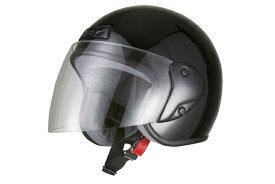 ジェットヘルメット ブラック  フリーサイズ  SG規格適合 PSCマーク付  バイク  オートバイ  ヘルメット  バイクパーツセンター