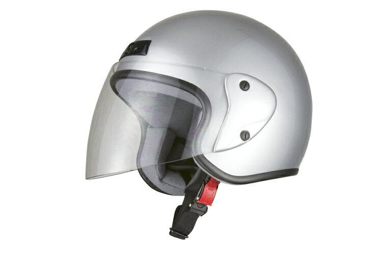 ジェットヘルメット シルバー 【フリーサイズ】【SG規格適合 PSCマーク付】【バイク】【オートバイ】【ヘルメット】 バイクパーツセンター