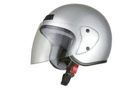 ジェットヘルメット シルバー  フリーサイズ  SG規格適合 PSCマーク付  バイク  オートバイ  ヘルメット  バイクパーツセンター