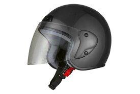 ジェットヘルメット ガンメタ  フリーサイズ  SG規格適合 PSCマーク付  バイク  オートバイ  ヘルメット  バイクパーツセンター