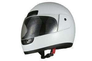 ヘルメット フルフェイス 白 ホワイト フリーサイズ SG規格適合 PSCマーク付 バイク オートバイ ヘルメット バイクパーツセンター