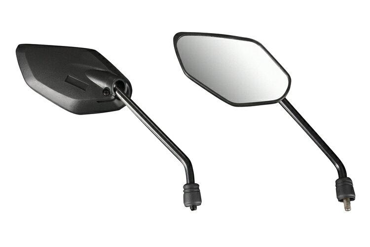 【ミラー】エアロシャープミラー 正ネジ 8mm 左右セット 黒/ブラック バイクパーツセンター