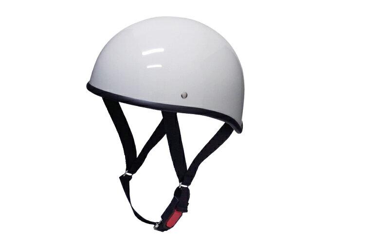 ダックテール ホワイト フリーサイズ 124cc以下 SG規格適合 PSCマーク付 バイク オートバイ ヘルメット 半帽 バイクパーツセンター