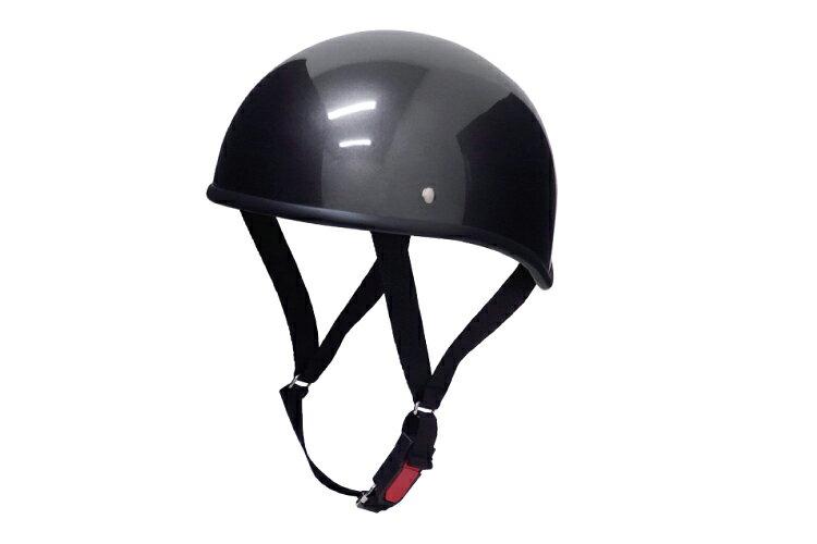 ダックテール ガンメタ フリーサイズ 124cc以下 SG規格適合 PSCマーク付 バイク オートバイ ヘルメット 半帽 バイクパーツセンター