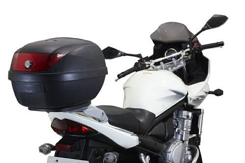 リアボックスYM-0807【バイク用ベース付きヘルメット入れトップケース】『バイクパーツセンター』