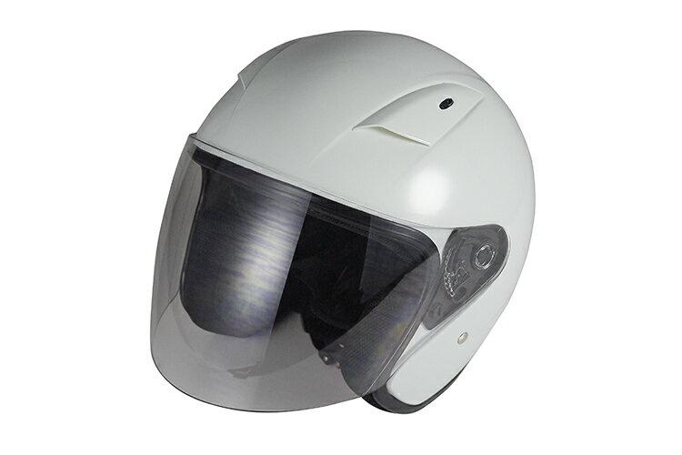 ラウンドフォルムジェットヘルメット ホワイト 【フリーサイズ】【SG規格適合 PSCマーク付】【バイク】【オートバイ】【ヘルメット】 バイクパーツセンター