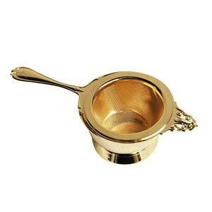 『ヌーブルティーストレーナー ゴールド (400829)』【日本製 ストレーナー 茶こし ティータイム 食器 紅茶 アフタヌーンティー 茶漉し マグカップ ティーポット ティーカップ ちゃこし ギフト
