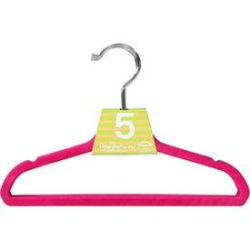『キッズ ノンスリップハンガー 5本セット ピンク』【すべらないハンガー キッズ用 子供用 ハンガー 衣類 キッズハンガー】