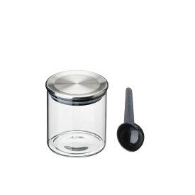 『スタンダードガラスキャニスター ステンレスリッド 400ml』【TEA&COFFEE キッチン用品 キッチン小物 保存 保存容器 キャニスター ガラス 雑貨】