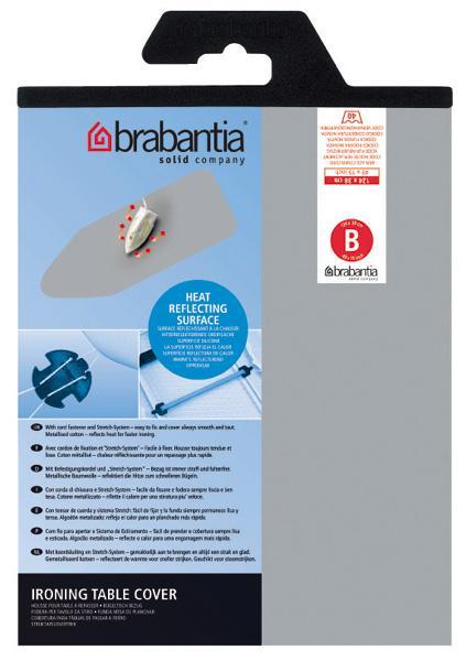 【メール便送料250円】『ブラバンシア アイロン台 スペアカバー 124×38cm用 (シリコン加工)』※brabantia