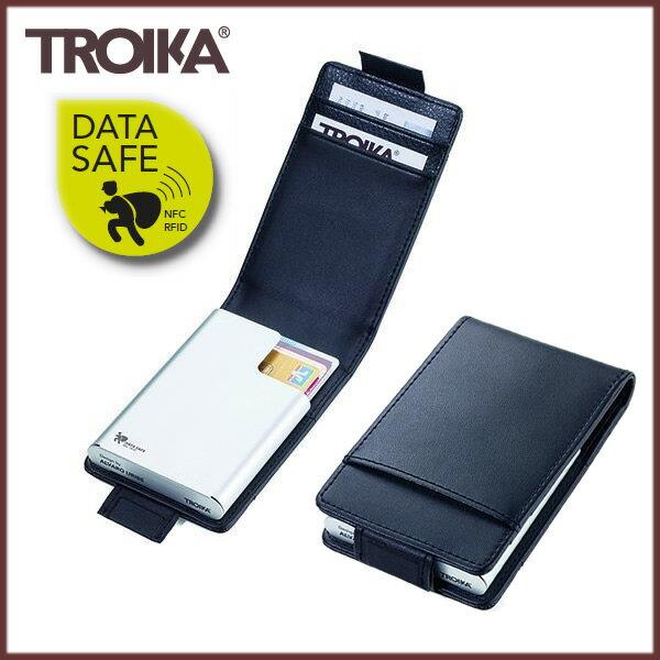 【送料無料】『ドイツ トロイカ ブラック&シルバー CCC83/BK』【TROIKA クレジットカードケース スキミング防止】
