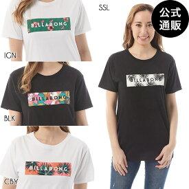 【SALE】【送料無料】2019 ビラボン レディース UNITED BOX LOGO Tシャツ 全4色 M/L BILLABONG