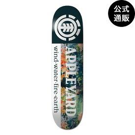 ◆デッキテープ付◆2019 エレメント スケートボード 7.7インチ FLORALSEC APPLEYARD デッキ 全1色 7.75 ELEMENT