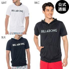 【OUTLET】【送料無料】2019 ビラボン メンズ RASH ZIP UP PARKA 半袖ラッシュガード【2019年夏モデル】 全3色 S/M/L/XL BILLABONG