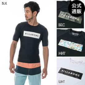 【OUTLET】【送料無料】2019 ビラボン メンズ ROUND NECK 半袖ラッシュガード【2019年春夏モデル】 全4色 M/L/XL BILLABONG