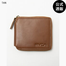 【OUTLET】2019 RVCA ルーカ メンズ ZIP AROUND WALLET ウォレット TAN 全1色 F rvca
