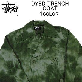 ステューシー コート・ジャケット STUSSY DYED TRENCH COATトレンチコート・ステンカラーコート・チェスターコート・ロングコート・メンズ(男性用)・スチューシー・ストゥーシー・(S M L XL XXL サイズ) 115533