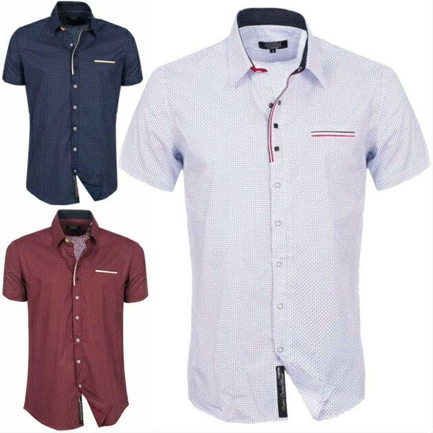 半袖シャツ ビジネス メンズ ストレッチ コットン カジュアルシャツ 紺 白 ボルドー きれいめ着こなし XXL大きいサイズも入荷! クールビズ