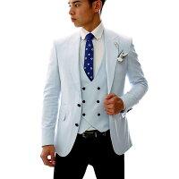 テーラードジャケットメンズジレツーピースベージュ背抜きタイトセットアップサマージャケット結婚式二次会