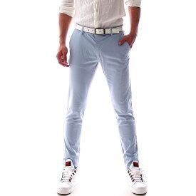 チノパン ストレッチ 薄地 スキニーパンツ メンズ ブルー 青 春/夏 大きいサイズ も入荷 ビジネス パンツ ジャケパン