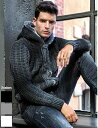 ニットパーカー ニットジャケット セーター ジップアップ メンズ アウター カーディガン アウター グラデーション 大きいサイズ