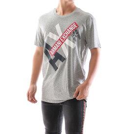 ARMANI EXCHANGE アルマーニ エクスチェンジ Tシャツ メンズ ロゴ 丸首 クルーネック グレー Mサイズ 父の日 プレゼント
